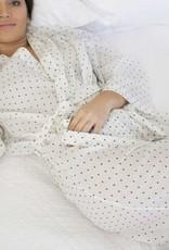 Linens Unlimited Kimono  Black Swiss Dots