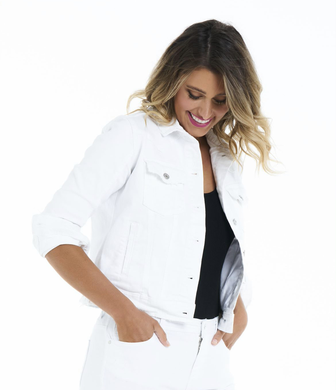 Betty Basics Cassidy Denim Jacket (White)
