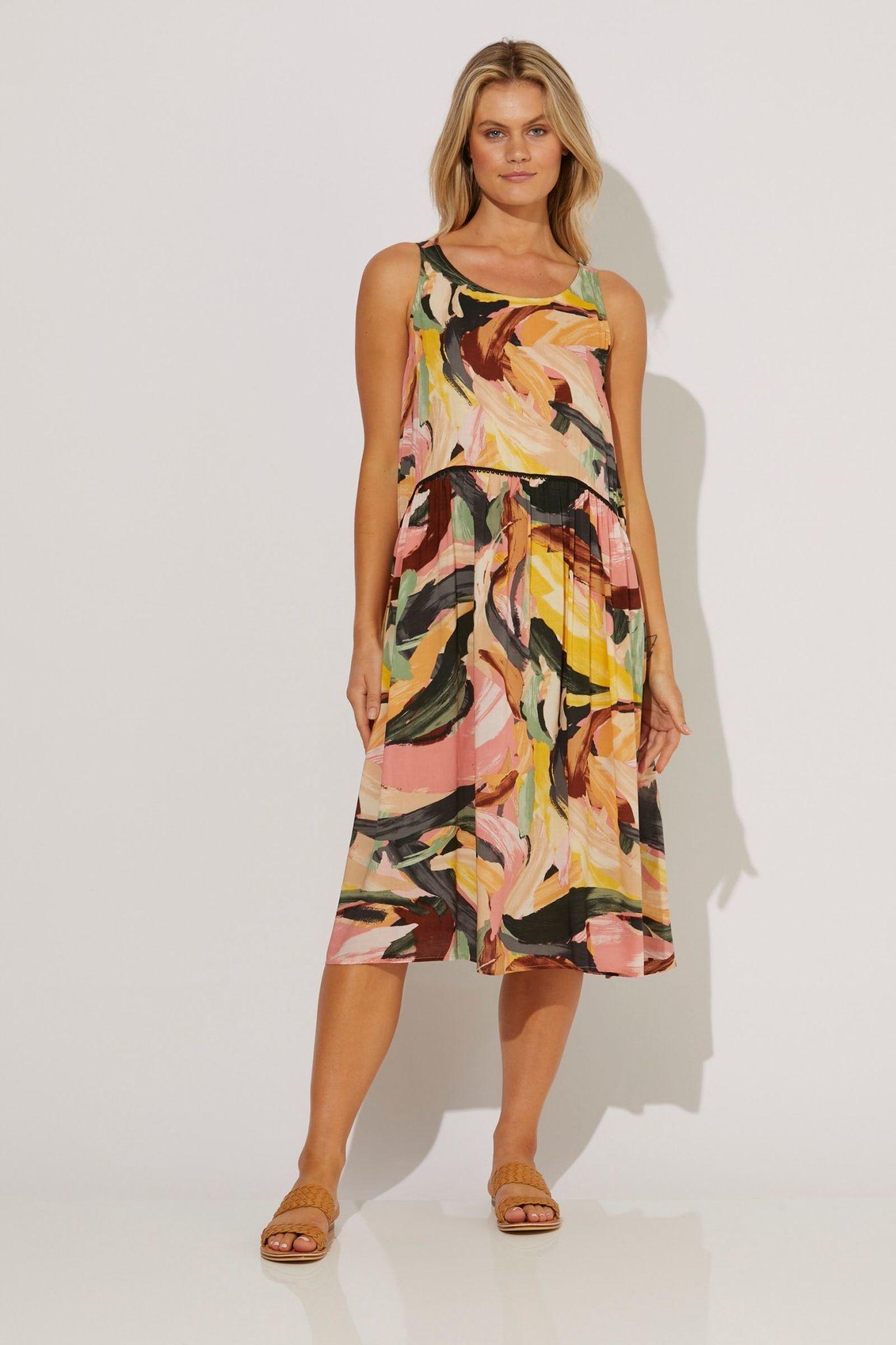 Haven Madagascar Strap Dress