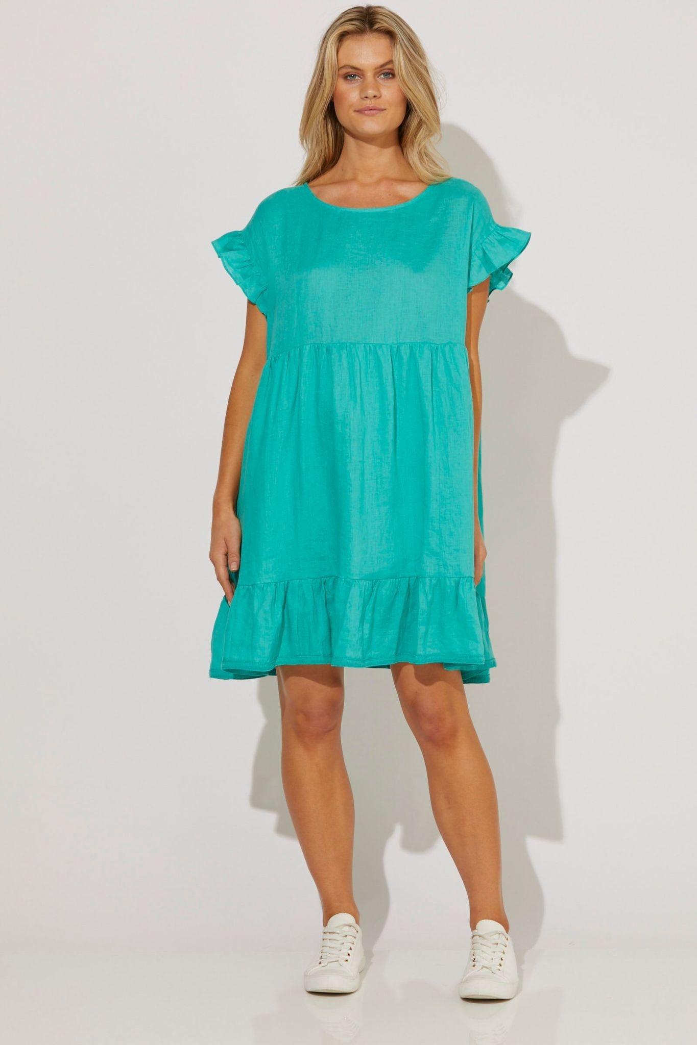 Haven Cabana Frill Dress