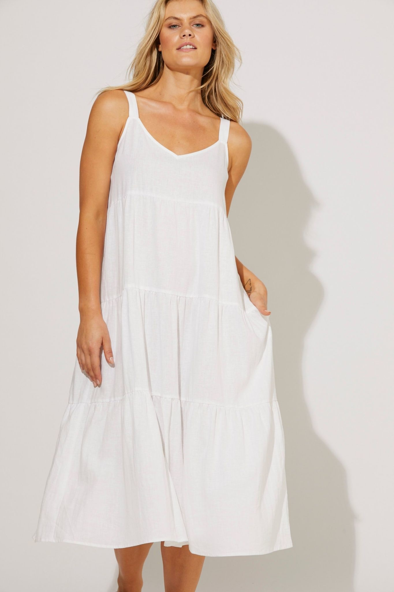 Haven San Sebastian Tiered Maxi Dress