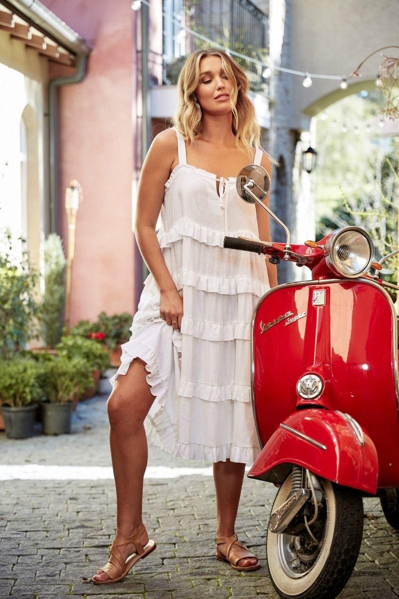 Haven San Sebastian Frill Midi Dress