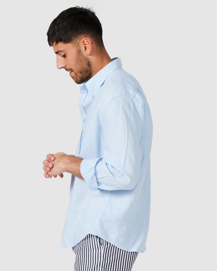 Vacay Linen Shirt Light Blue