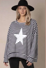 Koli Clothing Sweat Navy Stripe