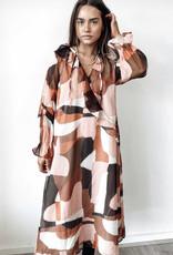 Koli Clothing Pink Brown Dress