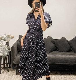 Koli Clothing Navy Spot Dress