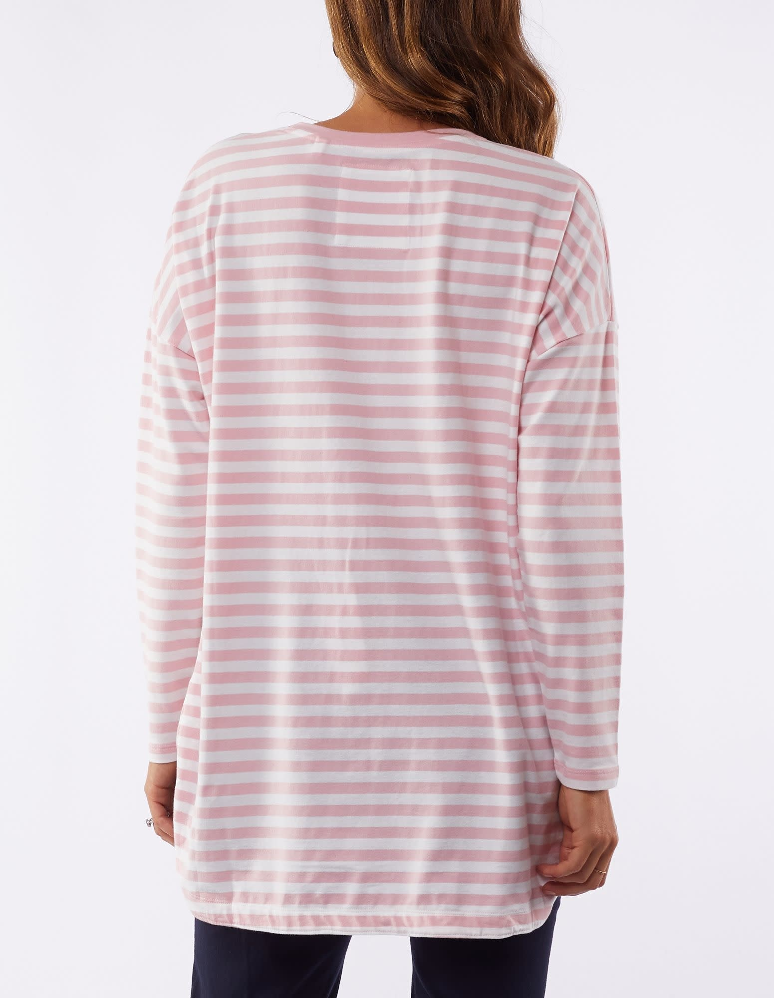 Elm Society Pink Stripe Tee