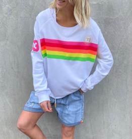 Cat Hammill Rainbow Sweat (White)