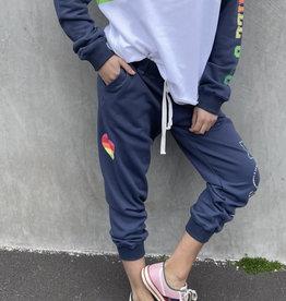 Cat Hammill Rainbow Track Pant (Navy)