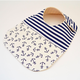 Two Little Beans Side-Snap Bib - Navy Anchors