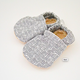 Baby Booties Grey Check 0-3 Months