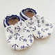 Baby Booties Navy Anchors 3-6 Months