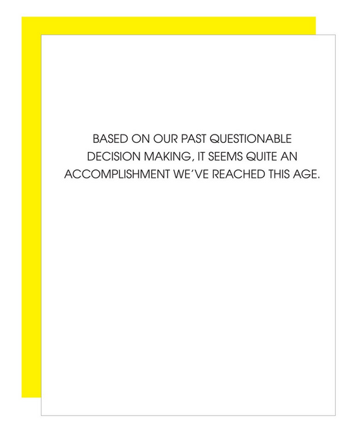 Chez Gagne Questionable Decision Making Card
