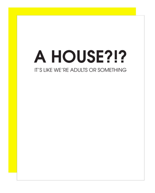 Chez Gagne Adult's Or Something Home Card