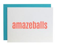 Chez Gagne Amazeballs Letterpress Card