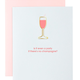 Chez Gagne Even A Party Champagne Paper Clip Card