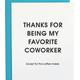 Chez Gagne Favorite Coworker Letterpress Card