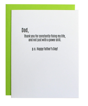Chez Gagne Fixing Life Father's Day Card