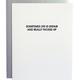 Chez Gagne Life is Unfair Letterpress Card