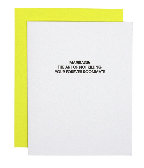 Chez Gagne Marriage Forever Roommate Card