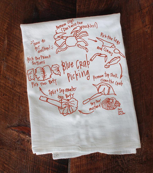 Girls Can Tell How To Eat Crab Tea Towel