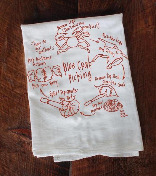 How To Eat Crab Tea Towel
