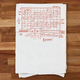 Girls Can Tell Baltimore Sign Tea Towel
