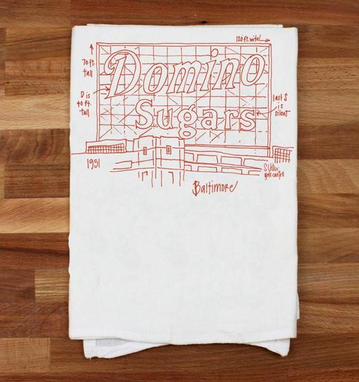 Baltimore Sign Tea Towel