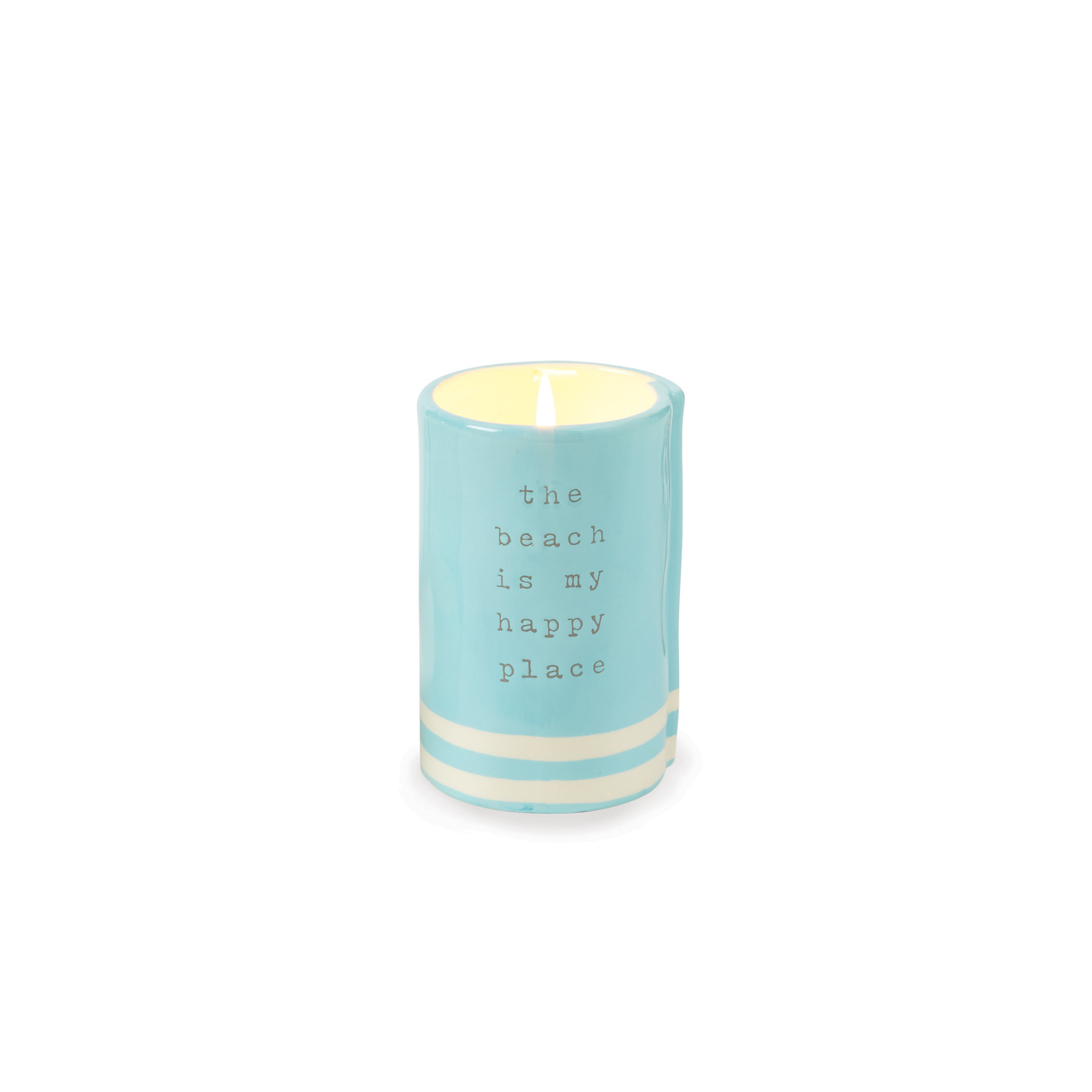 Mud Pie HAPPY PLACE BEACH CANDLE