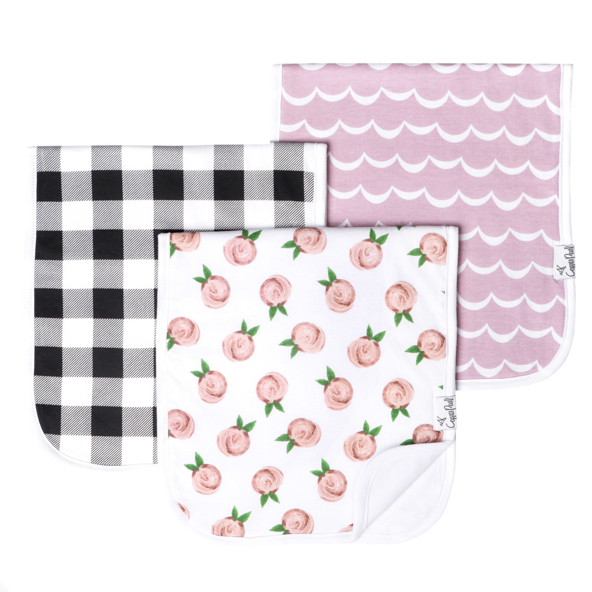 Copper Pearl Burp Cloth Set - Rosie