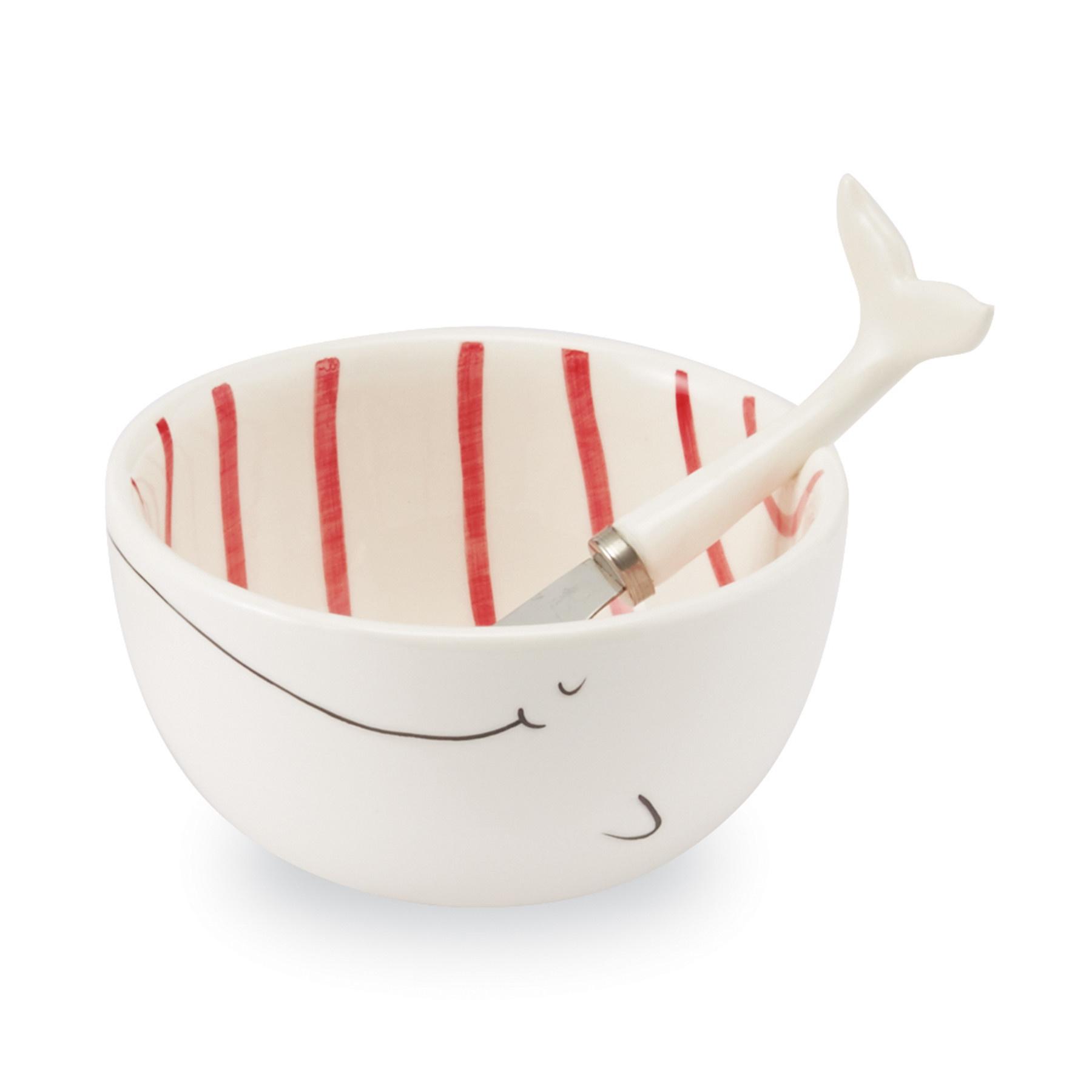Mud Pie RED WHALE DIP CUP SET