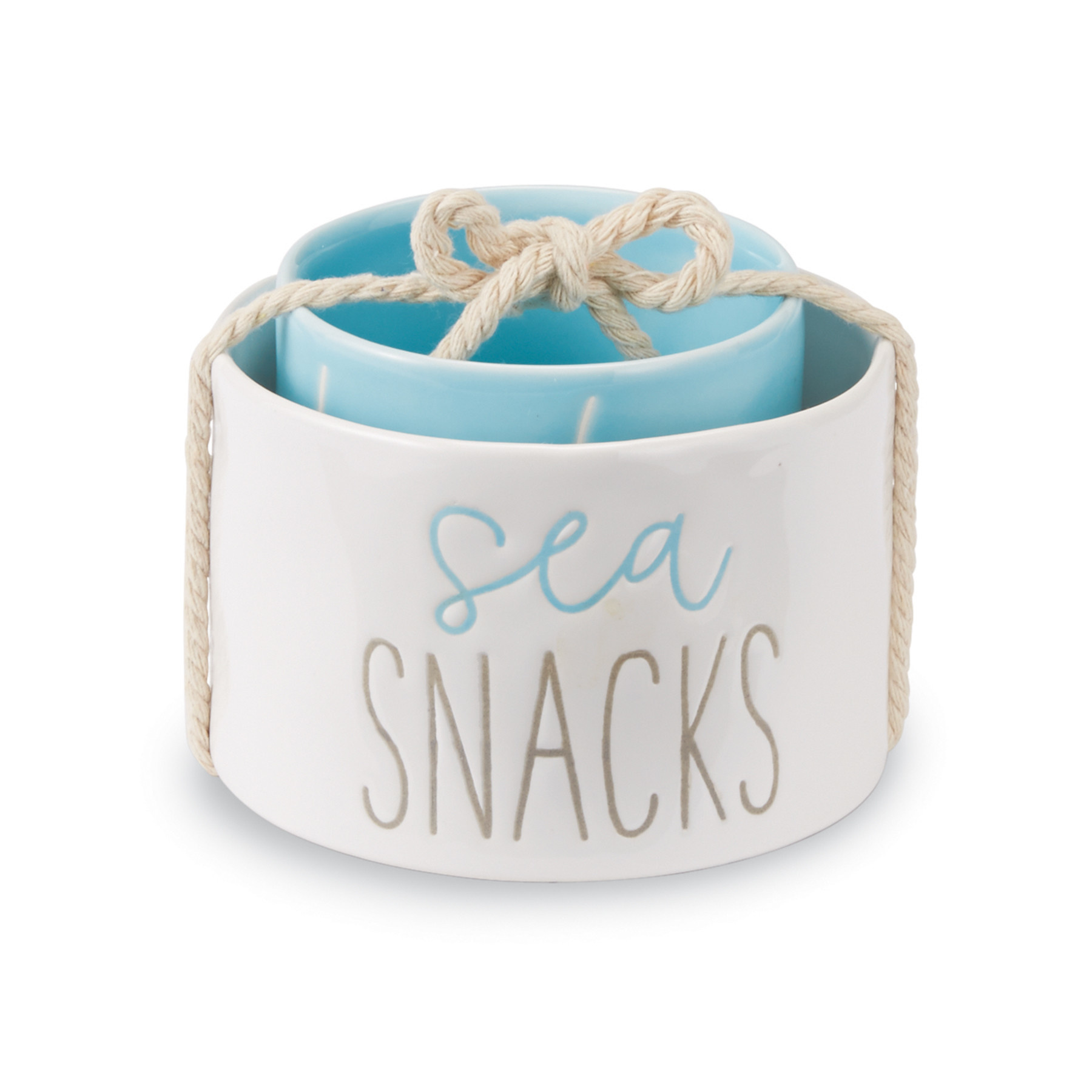 Mudpie BEACH SNACK DIP CUP NESTED SET