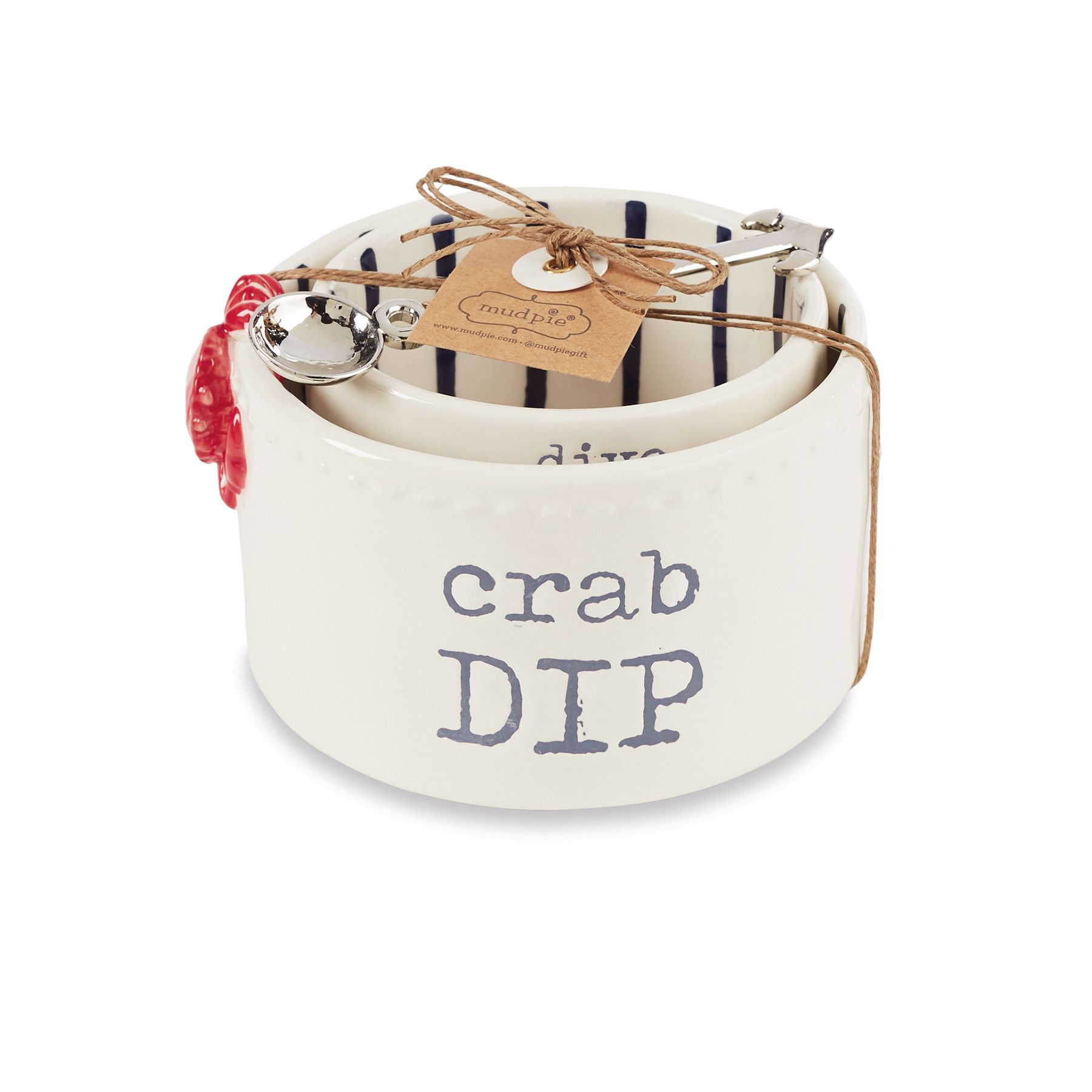 Mud Pie CRAB NESTED DIP CUP SET