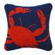 Peking Handicraft Crab Hook Pillow 14X14