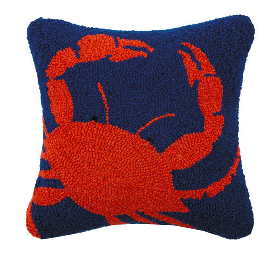 Crab Hook Pillow 14X14