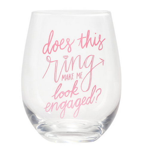 About Face Designs Does This Ring? Wine Glass