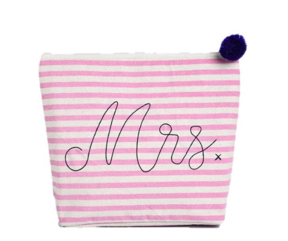 Large Cosmetic Bag - Mrs.