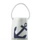 Sea Bags Bucket Bag - Navy Anchor