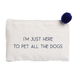 Ever Ellis Canvas Cosmetic Bag - Pet Dogs