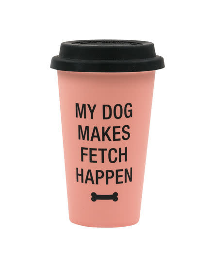 About Face Designs Thermal Mug - My Dog Makes Fetch Happen