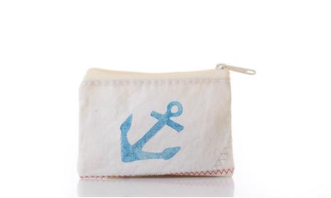 Sea Bags Change Purse - Navy Anchor