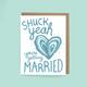 Shuck Yeah Married Card