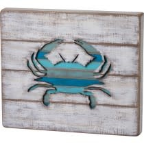 Primitives By Kathy Slat Cut-Out Sign - Crab