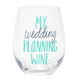 About Face Designs Wedding Planning Wine Glass