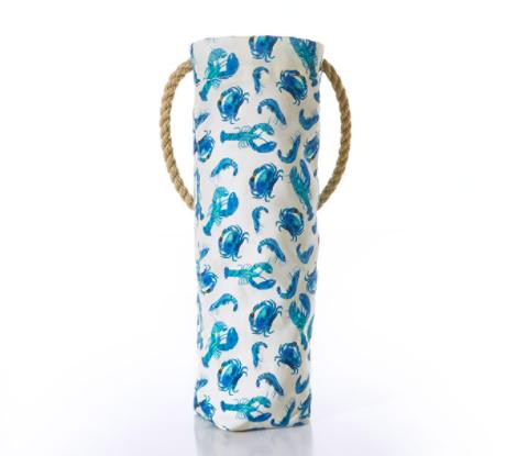 Sea Bags Wine Bag - Blue Shellfish
