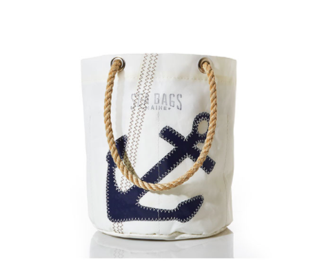 Sea Bags Beverage Bucket Bag - Navy Anchor