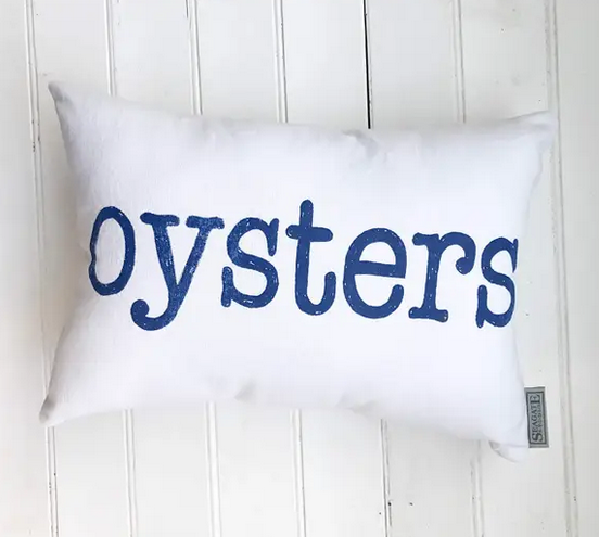 Oysters Canvas Pillow