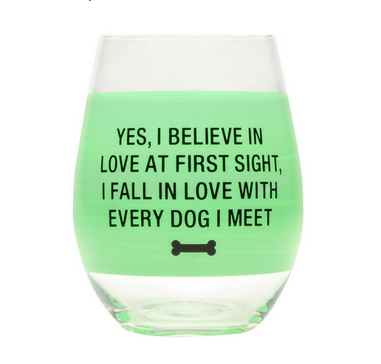 About Face Designs Love at First Sight Wine Glass
