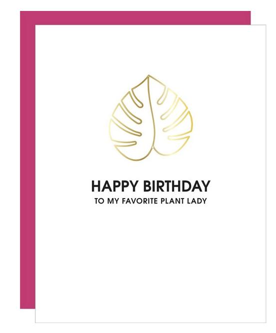 Chez Gagne Birthday - Plant Lady Paper Clip Card