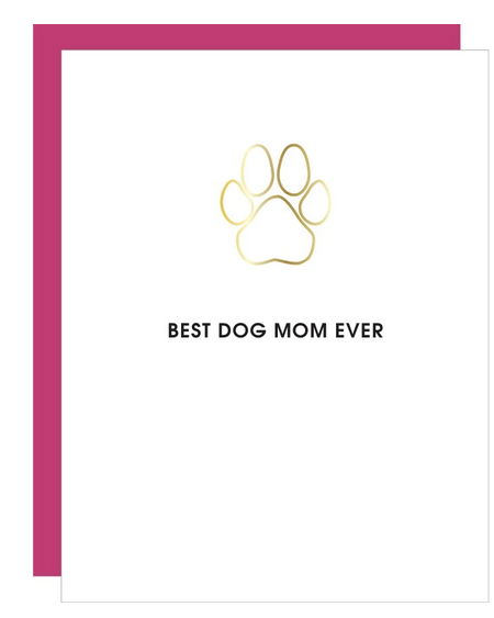 Chez Gagne Best Dog Mom Ever Paper Clip Card